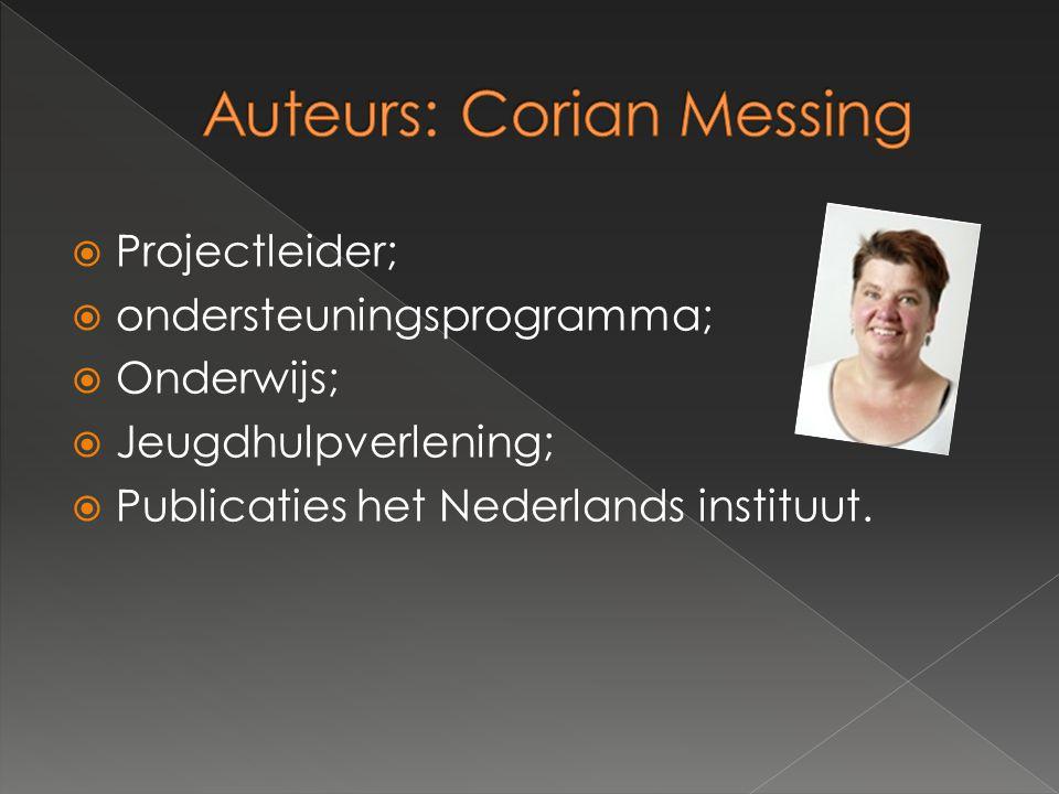  Projectleider;  ondersteuningsprogramma;  Onderwijs;  Jeugdhulpverlening;  Publicaties het Nederlands instituut.