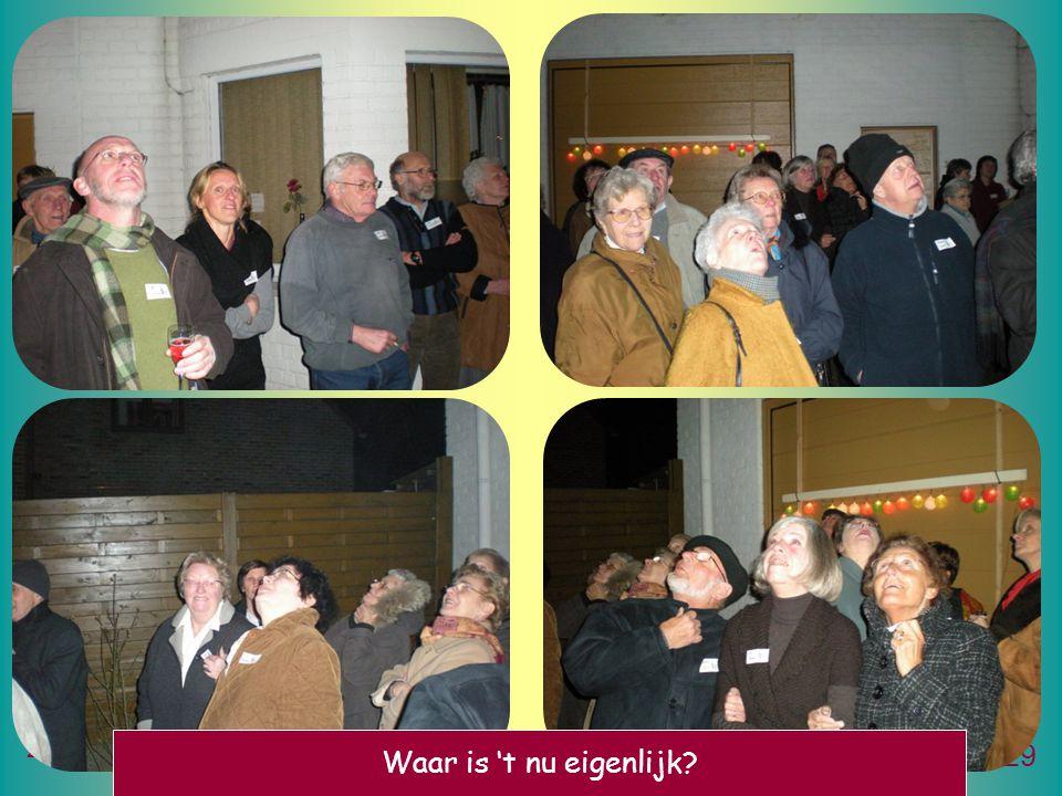 2 januari 2009Nieuwjaarsreceptie Meule wal straete 29 Waar is 't nu eigenlijk