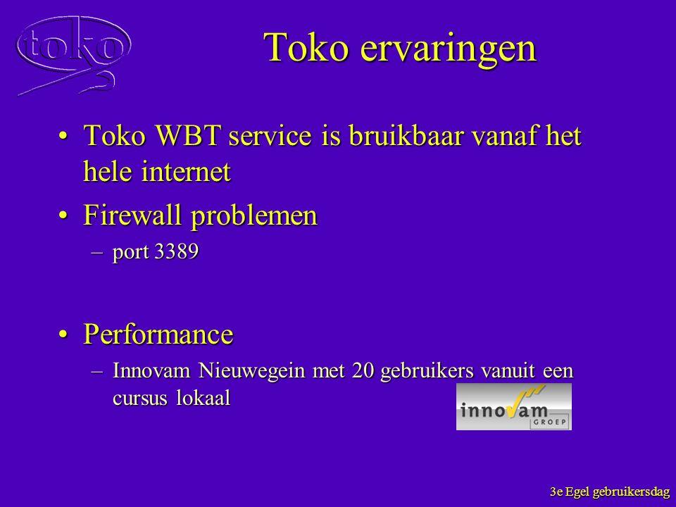 Toko ervaringen Toko WBT service is bruikbaar vanaf het hele internetToko WBT service is bruikbaar vanaf het hele internet Firewall problemenFirewall