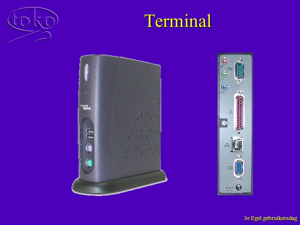 3e Egel gebruikersdag Terminal
