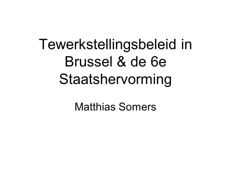 Opleidingen in Brussel Beroepsopleiding: 1.370 werkzoekenden Studie en opleiding: 1.824 werkzoekenden Gewest mag zelf opleidingen aanbieden Samenwerking nodig met Cocof & Vlaamse Gemeenschap