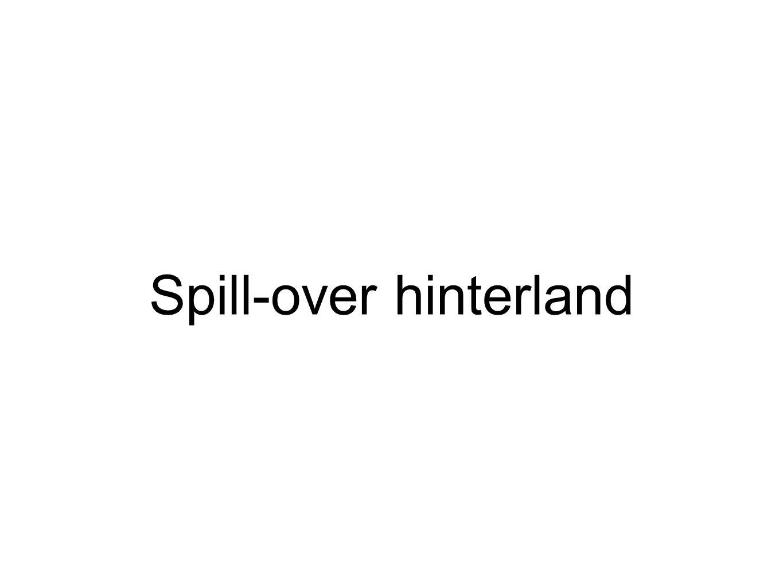 Spill-over hinterland