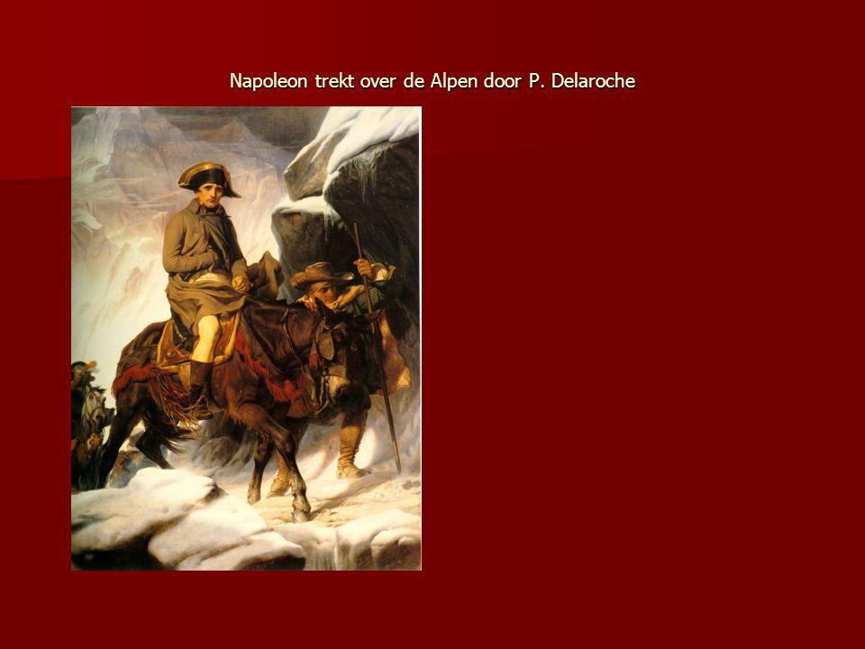 Napoleon trekt over de Alpen door P. Delaroche