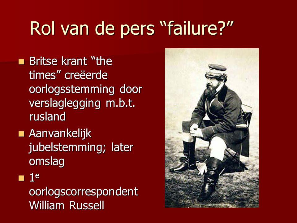 """Rol van de pers """"failure?"""" Britse krant """"the times"""" creëerde oorlogsstemming door verslaglegging m.b.t. rusland Britse krant """"the times"""" creëerde oorl"""