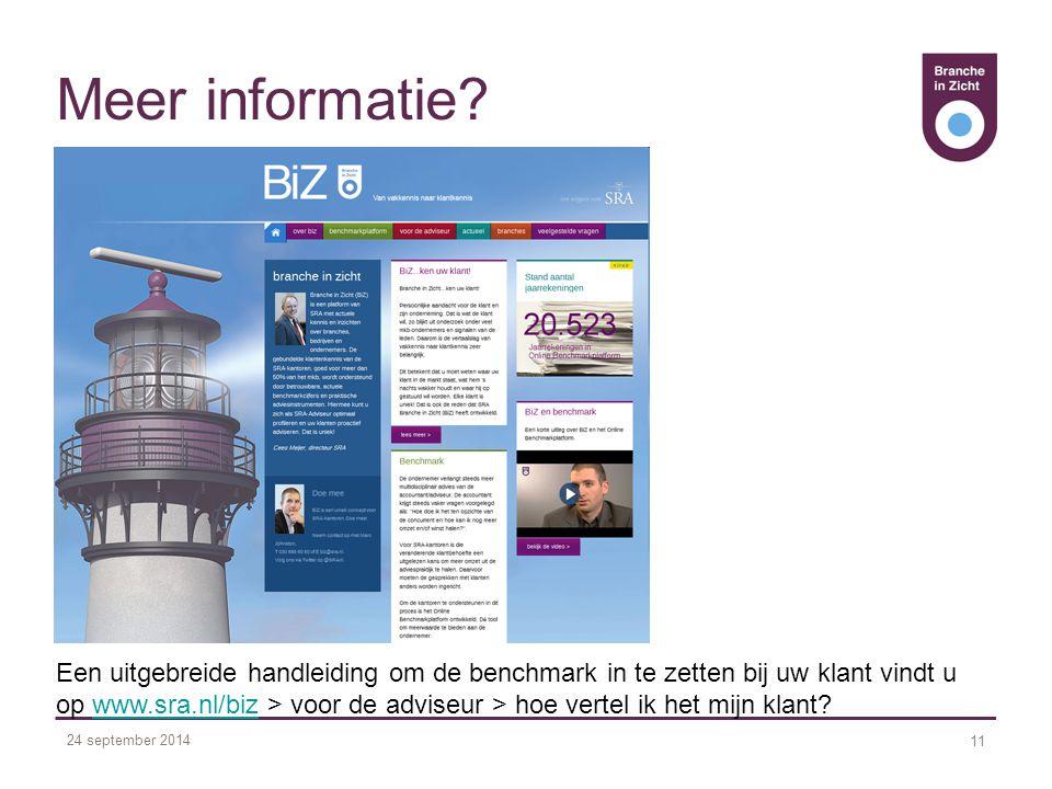 24 september 2014 11 Meer informatie.