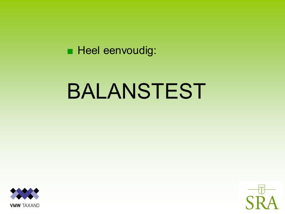 ■Heel eenvoudig: BALANSTEST