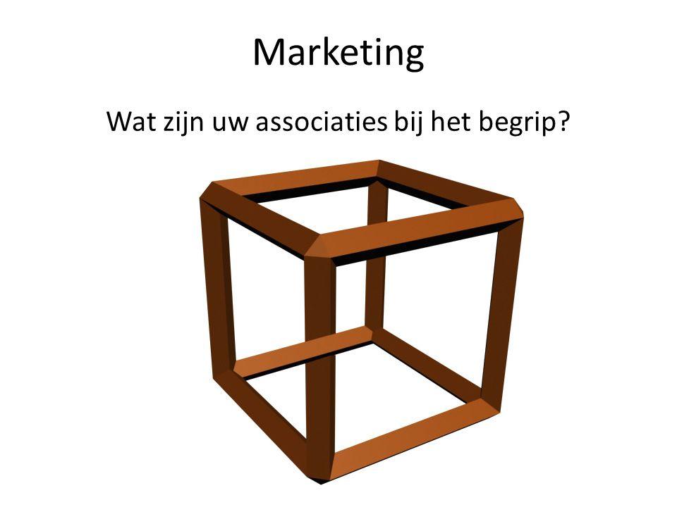 Marketing Wat zijn uw associaties bij het begrip