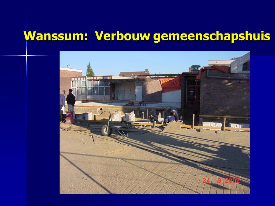 Wanssum: Verbouw gemeenschapshuis