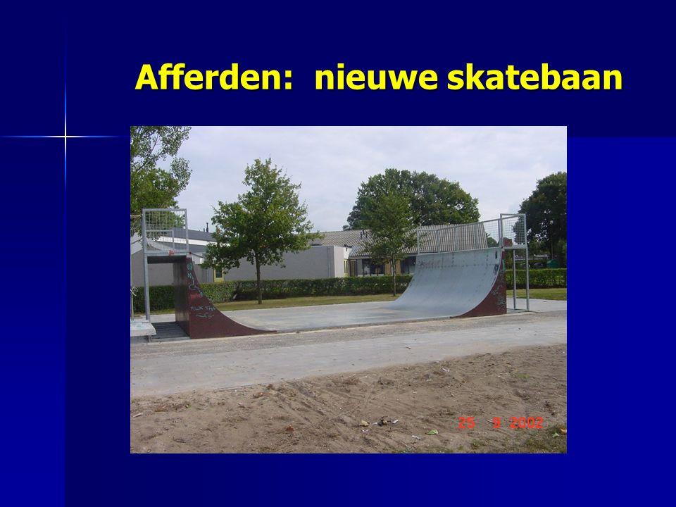 Afferden: nieuwe skatebaan Afferden: nieuwe skatebaan
