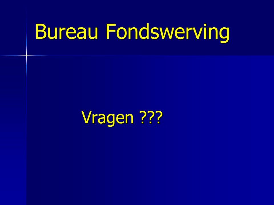 Bureau Fondswerving Vragen ???
