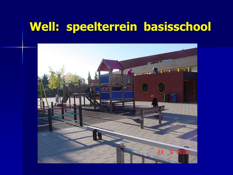 Well: speelterrein basisschool