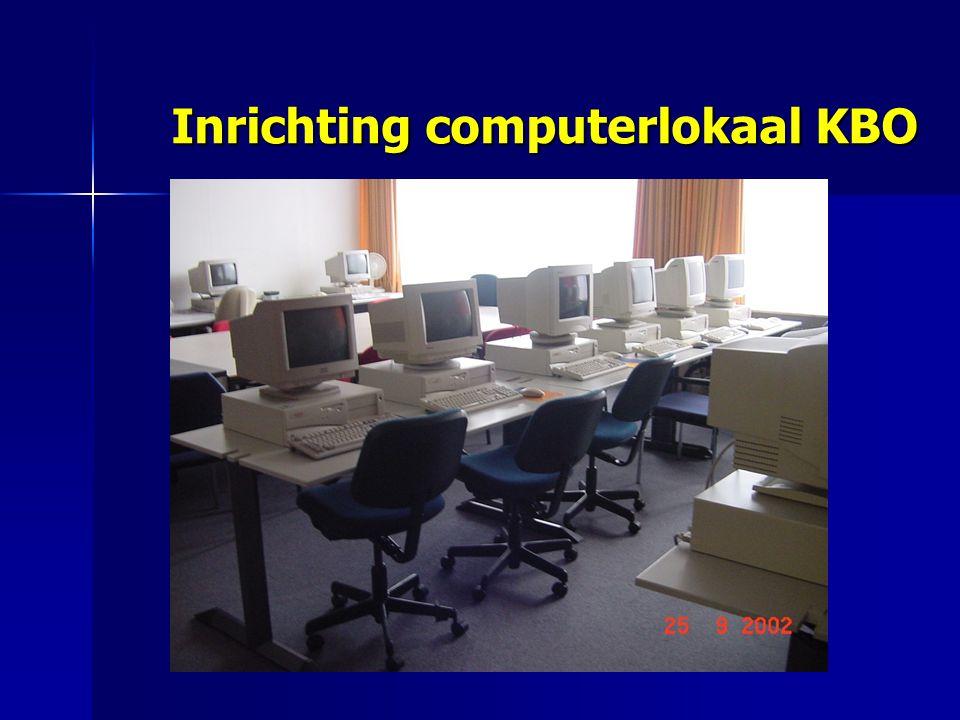 Inrichting computerlokaal KBO Inrichting computerlokaal KBO