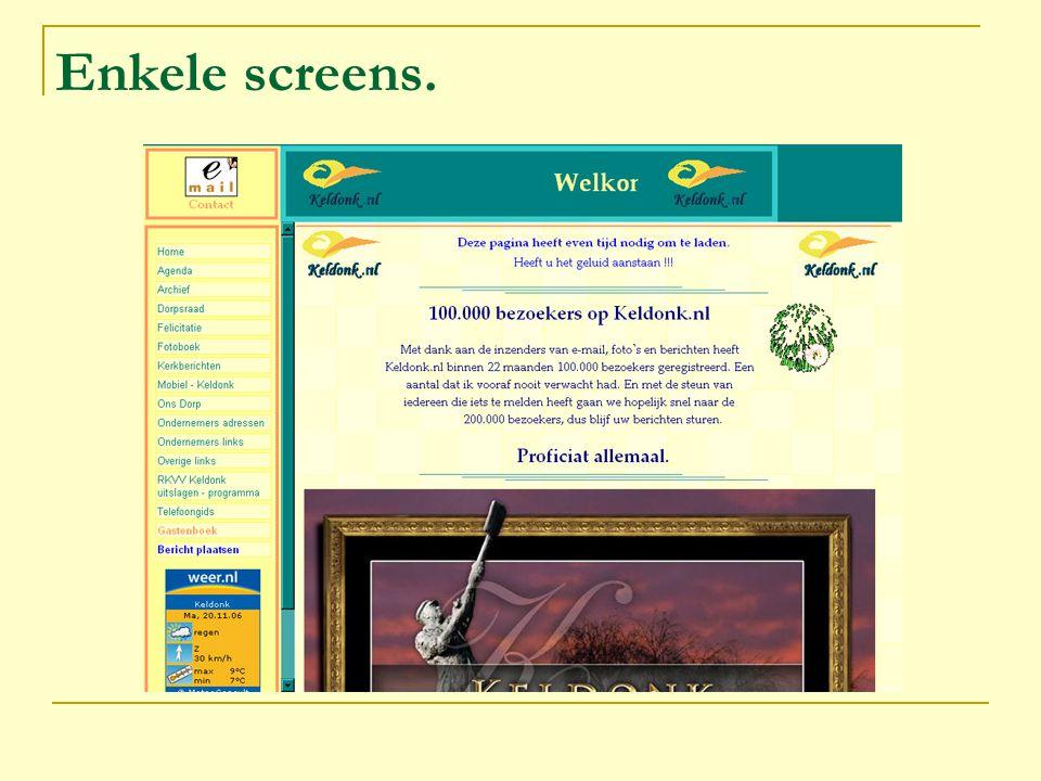 Enkele screens.