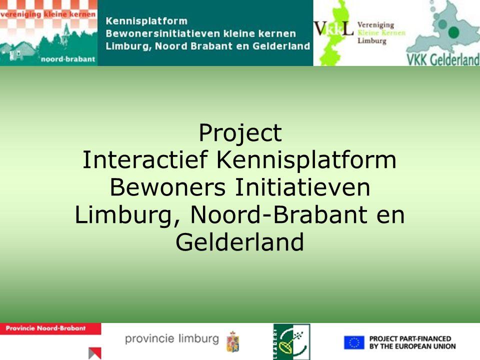 Project Interactief Kennisplatform Bewoners Initiatieven Limburg, Noord-Brabant en Gelderland