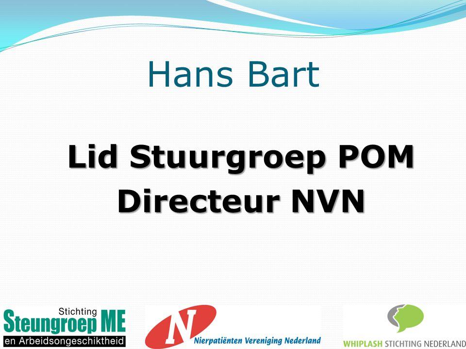 Hans Bart Lid Stuurgroep POM Directeur NVN