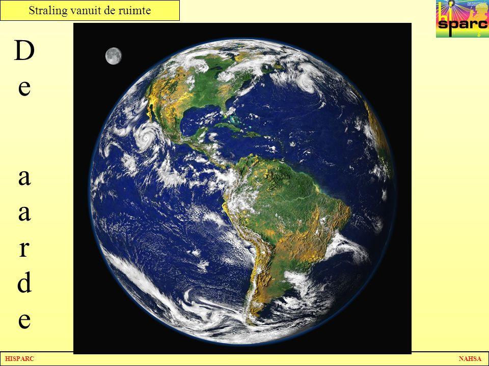 HISPARC NAHSA Straling vanuit de ruimte De aardeDe aarde