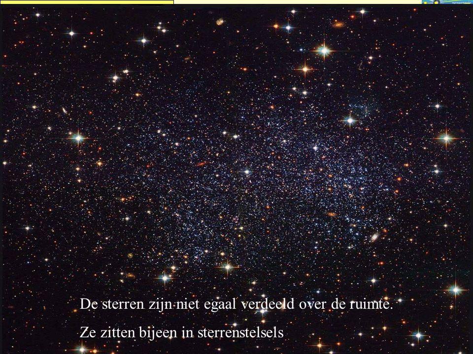 HISPARC NAHSA Straling vanuit de ruimte De sterren zijn niet egaal verdeeld over de ruimte. Ze zitten bijeen in sterrenstelsels