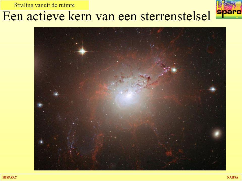 HISPARC NAHSA Straling vanuit de ruimte Een actieve kern van een sterrenstelsel