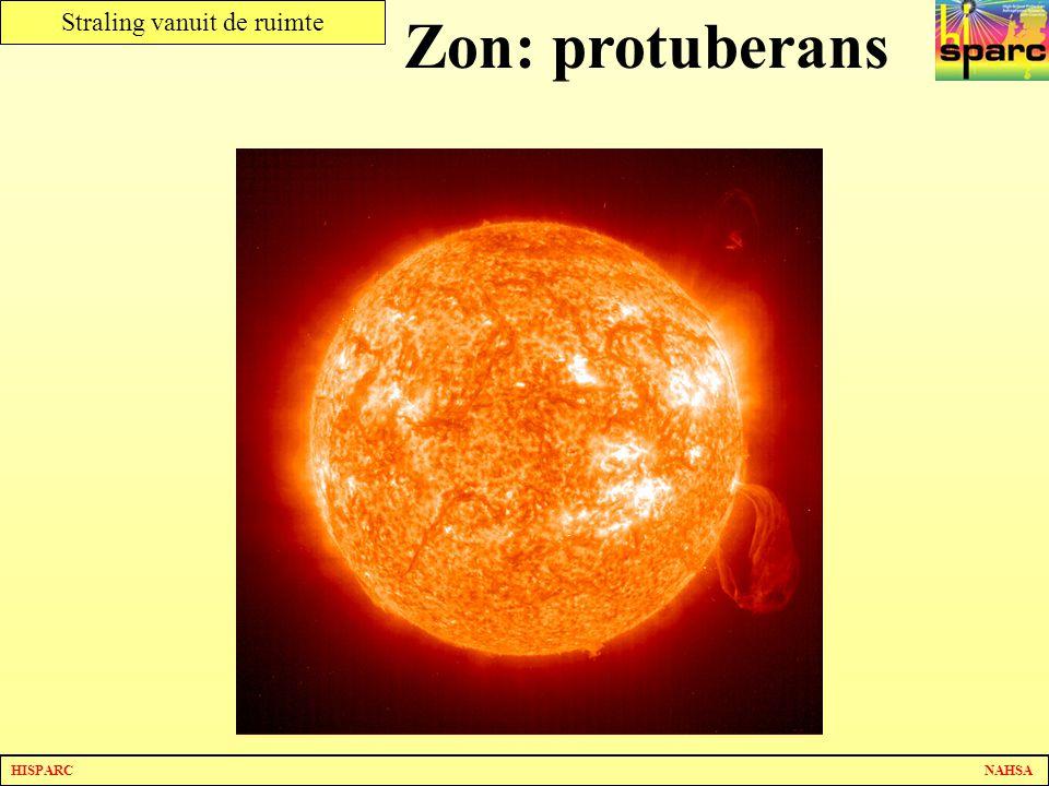 HISPARC NAHSA Straling vanuit de ruimte Zon: protuberans