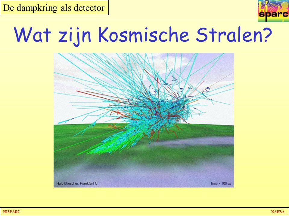 HISPARC NAHSA De dampkring als detector Wat zijn Kosmische Stralen?