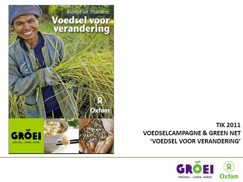 ACTIEMOMENTEN 5 – 15/10/2011 WEEK VAN DE FAIR TRADE 15/10/2011 Wereldwinkeldag Fair trade als een alternatief voor de voedselcrisis 16/10/2011 WERELDVOEDSELDAG Naar een eerlijke voedselvoorziening voor iedereen 28/11 – 09/12/2011 VN KLIMAATTOP (Zuid-Afrika) 03/12/2011 Klimaatmanifestatie (Brussel) Steun kleinschalige boeren in hun strijd tegen de klimaatverandering 12/05/2012 INTERNATIONALE DAG VAN DE FAIR TRADE Lokale acties om beleidsmakers er toe aan te zetten doortastende beslissingen te nemen in Rio 4 – 6/06/2012 VN TOP ROND MILIEU & ONTWIKKELING (Rio+20) De voedsel-, klimaat en grondstoffencrisis moeten samen worden aangepakt met een coherent beleid