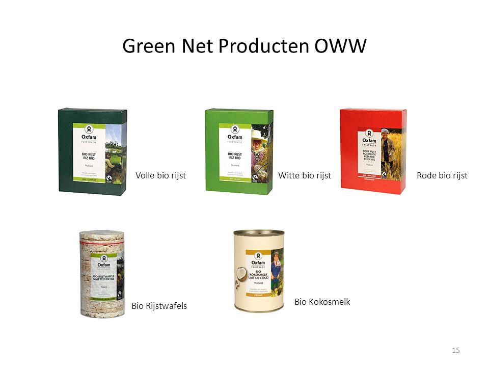 Green Net Producten OWW Volle bio rijstWitte bio rijstRode bio rijst Bio Rijstwafels Bio Kokosmelk 15