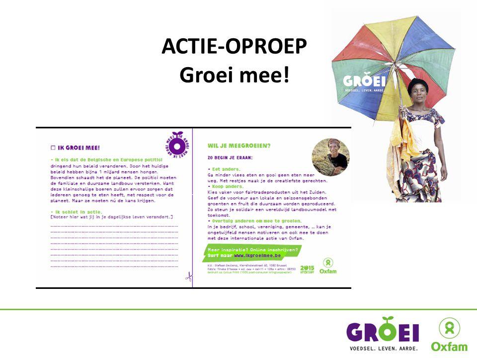 ACTIE-OPROEP Groei mee!