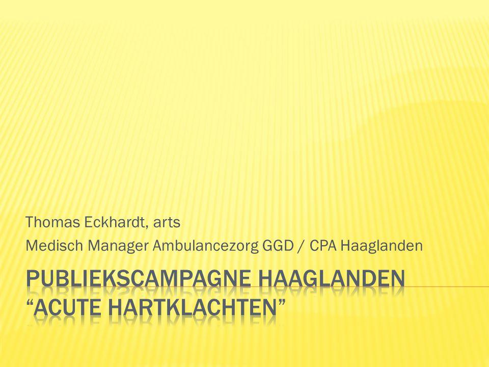 Thomas Eckhardt, arts Medisch Manager Ambulancezorg GGD / CPA Haaglanden