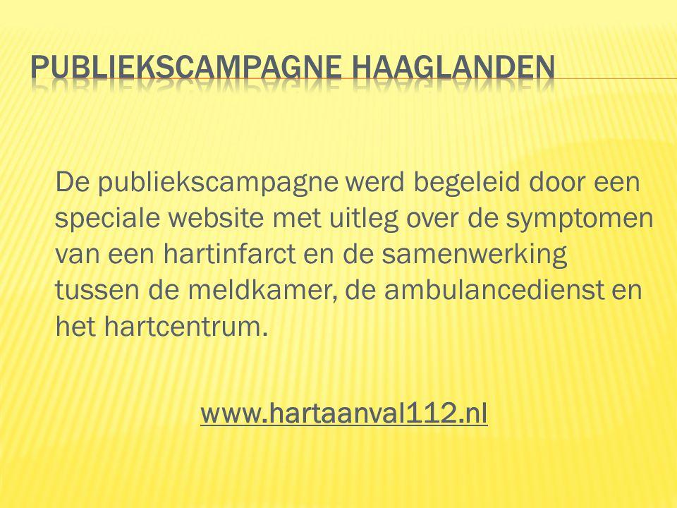 De publiekscampagne werd begeleid door een speciale website met uitleg over de symptomen van een hartinfarct en de samenwerking tussen de meldkamer, de ambulancedienst en het hartcentrum.