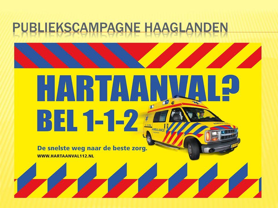Campagneposter hing gedurende acht weken in meer dan 350 abri's in de hele regio Haaglanden.
