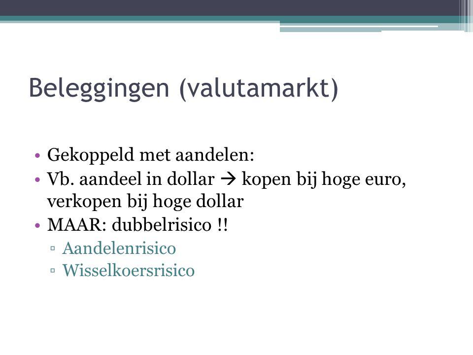Beleggingen (valutamarkt) Gekoppeld met aandelen: Vb.