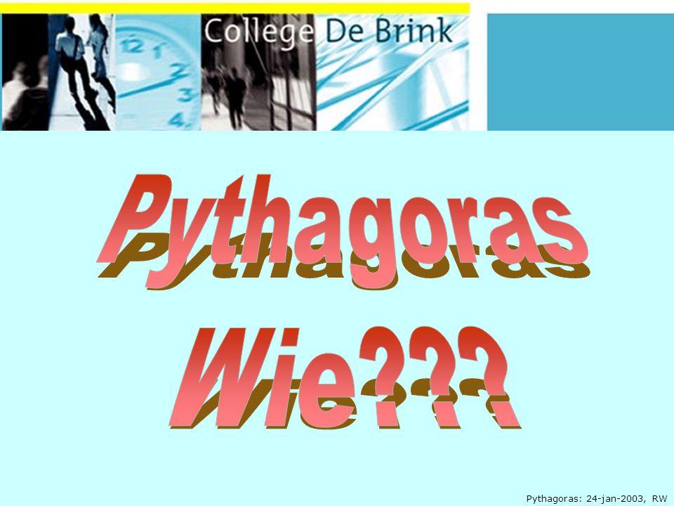 Pythagoras: 24-jan-2003, RW