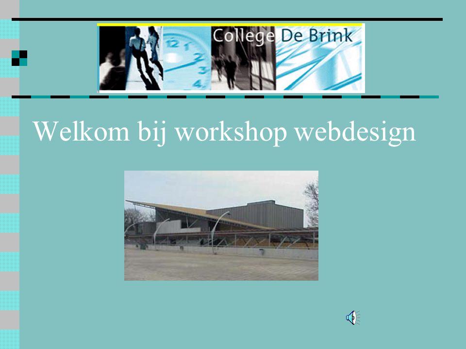 Welkom bij workshop webdesign