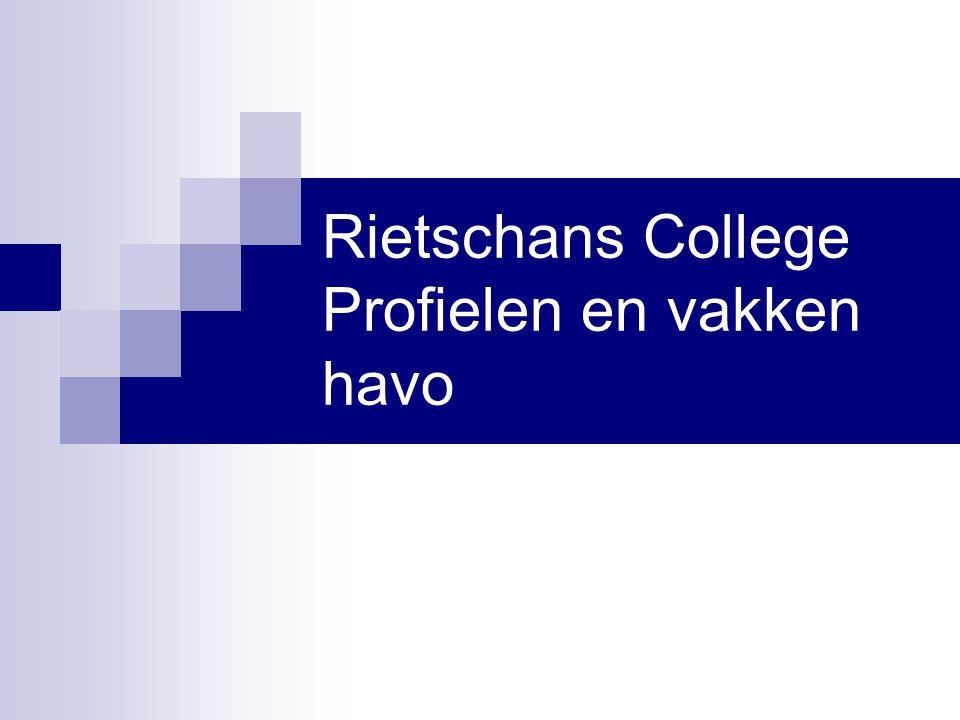 Rietschans College Profielen en vakken havo