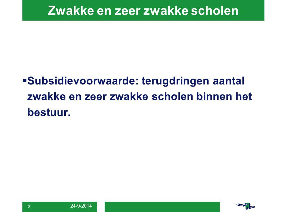 24-9-2014 6 Voorschools  Zoeken naar vereenvoudiging:  peuterspeelzaal + vve + groep nul  Peuterconsulent i.p.v.