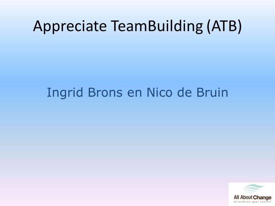 Appreciate TeamBuilding (ATB) Ingrid Brons en Nico de Bruin