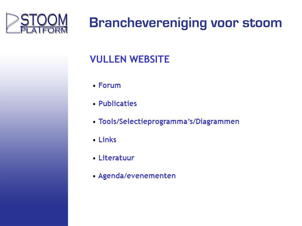 VULLEN WEBSITE Forum Publicaties Tools/Selectieprogramma's/Diagrammen Links Literatuur Agenda/evenementen