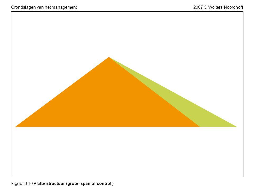 2007 © Wolters-NoordhoffGrondslagen van het management Figuur 6.10 Platte structuur (grote 'span of control')