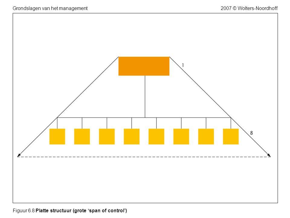 2007 © Wolters-NoordhoffGrondslagen van het management Figuur 6.8 Platte structuur (grote 'span of control')