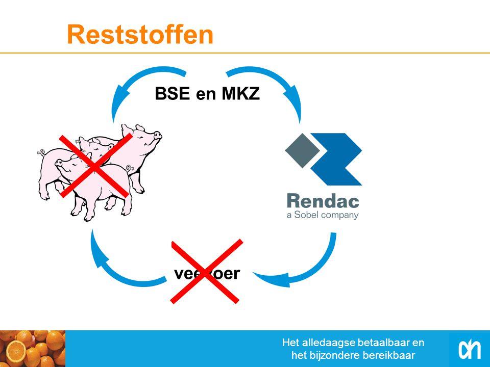 Het alledaagse betaalbaar en het bijzondere bereikbaar Reststoffen veevoer BSE en MKZ