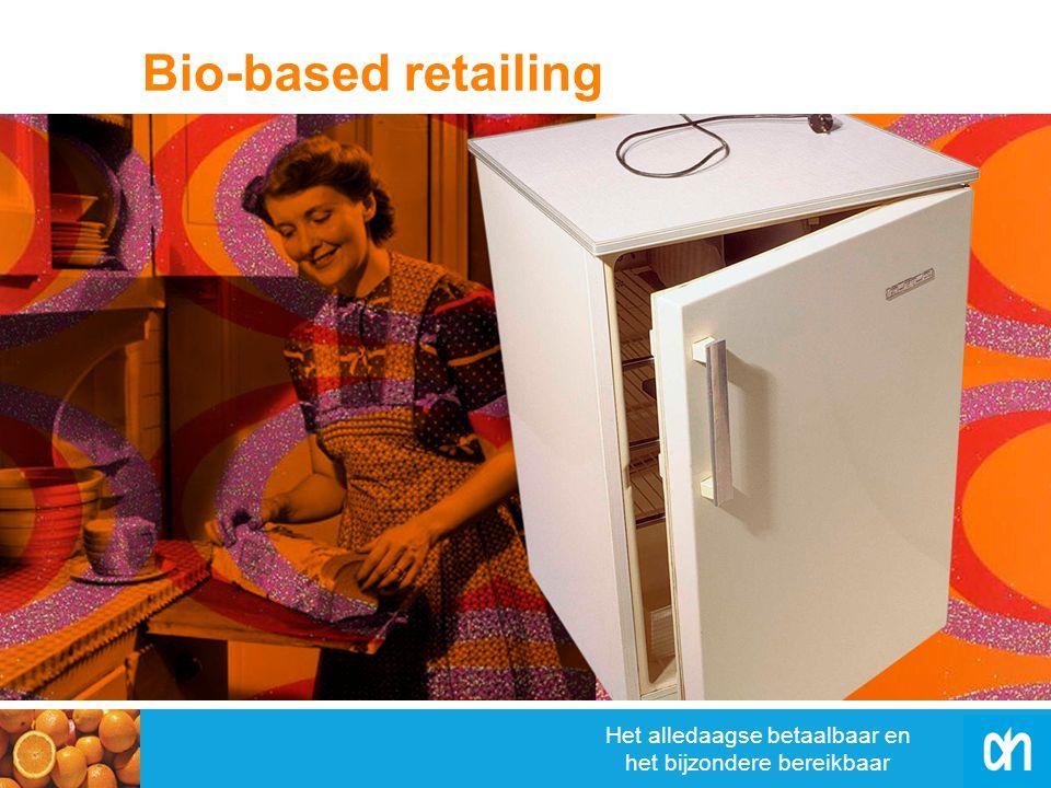 Het alledaagse betaalbaar en het bijzondere bereikbaar Biologisch afbreekbare verpakkingen Vroeger: alleen minder afval Nu: ook minder CO 2