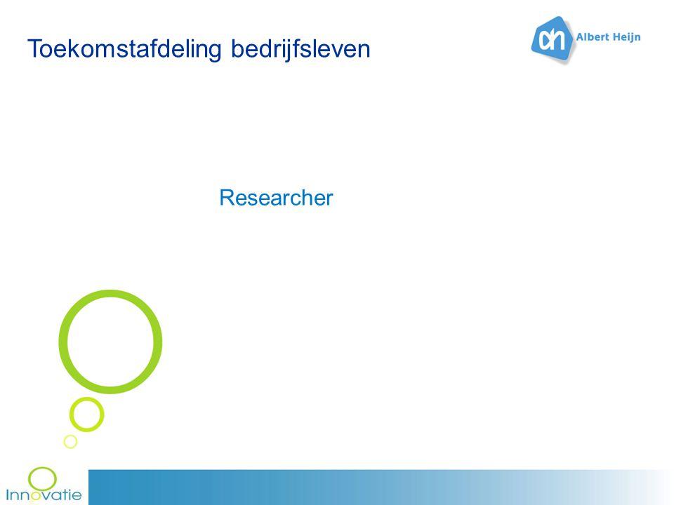 Toekomstafdeling bedrijfsleven Researcher