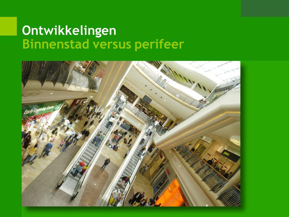 Ontwikkelingen Binnenstad versus perifeer