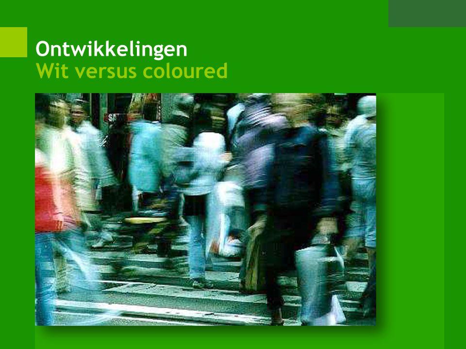 Ontwikkelingen Wit versus coloured