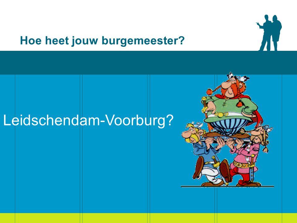 Hoe heet jouw burgemeester? Leidschendam-Voorburg: Hans van der Sluijs