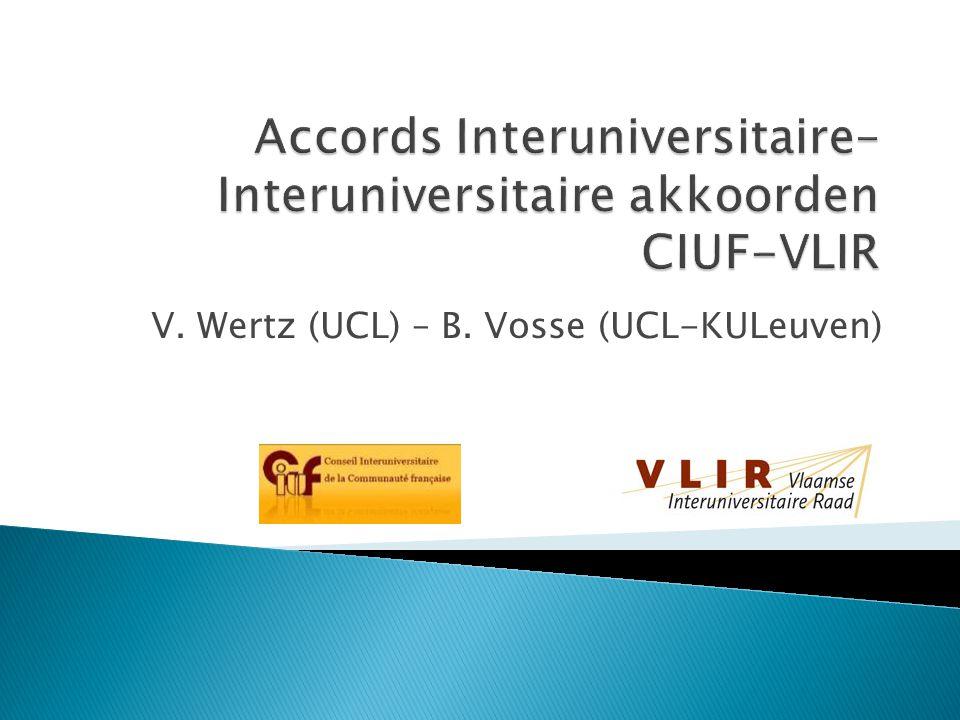 V. Wertz (UCL) – B. Vosse (UCL-KULeuven)