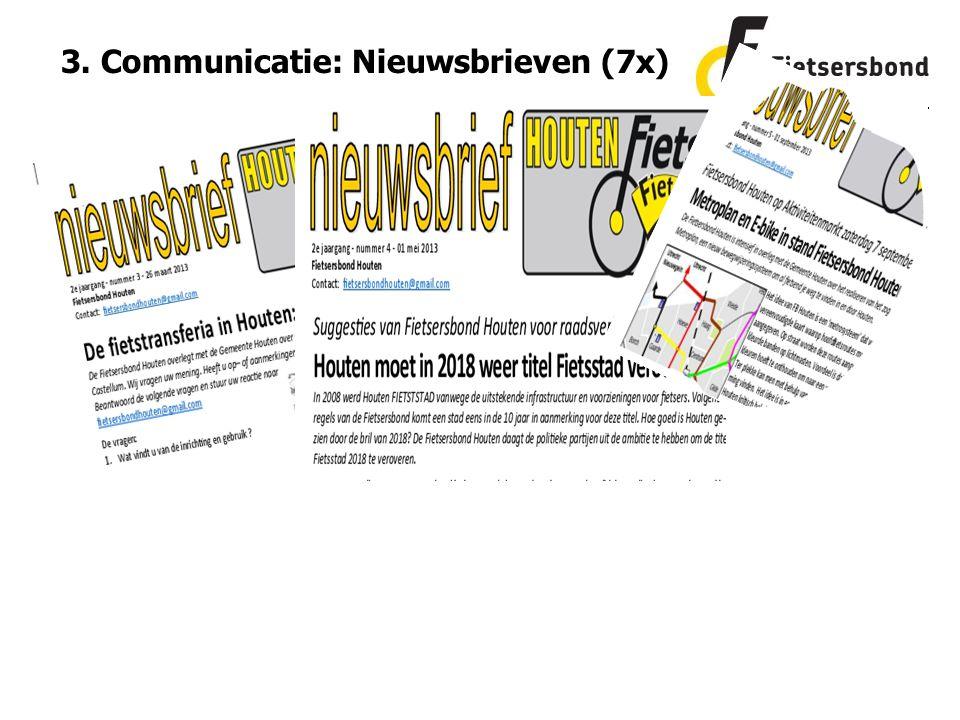 3. Communicatie: Nieuwsbrieven (7x)
