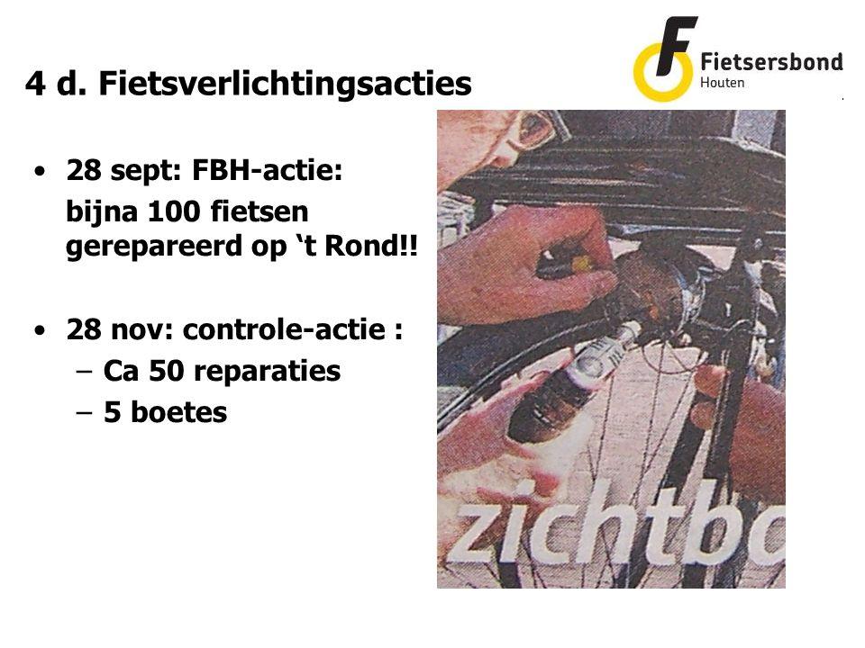 4 d. Fietsverlichtingsacties 28 sept: FBH-actie: bijna 100 fietsen gerepareerd op 't Rond!.