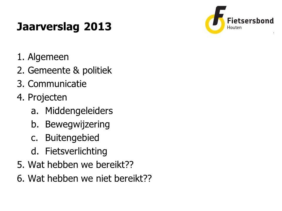 1. Algemeen 2. Gemeente & politiek 3. Communicatie 4.
