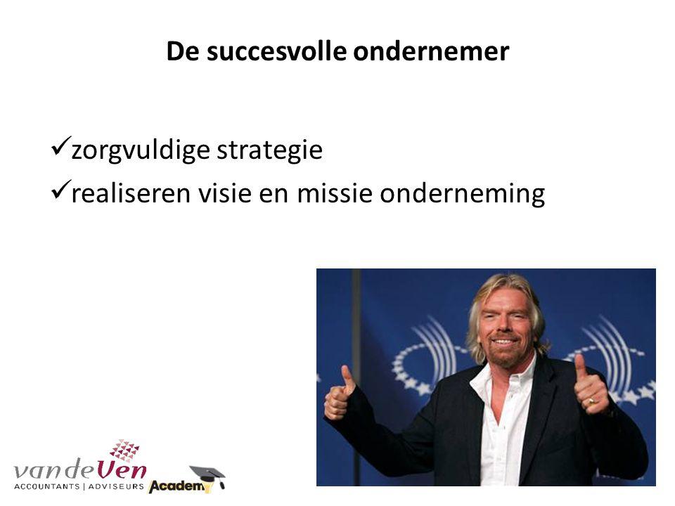 De succesvolle ondernemer zorgvuldige strategie realiseren visie en missie onderneming